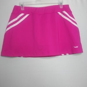Slazenger Pink White Striped Tennis Skirt